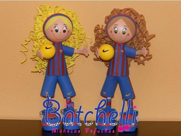 Fofuchas Batchelli Niñas Futbolistas FC Barcelona