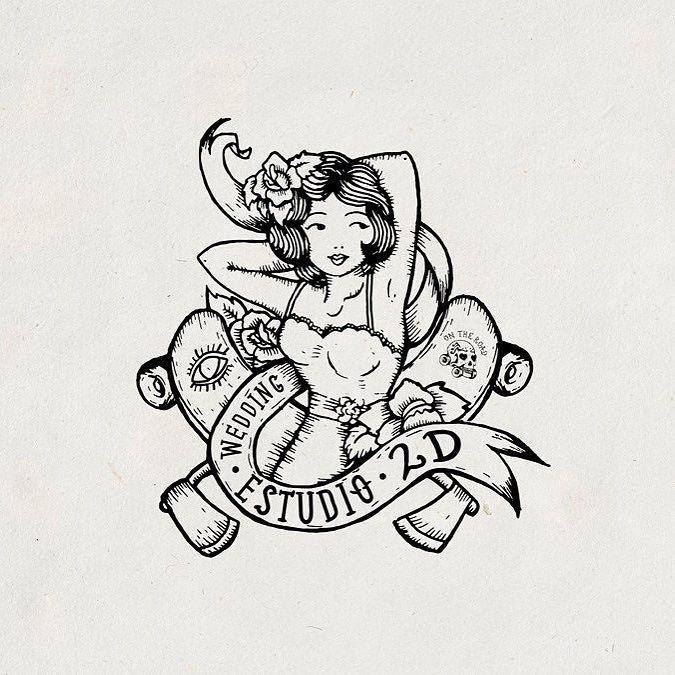 estudio2D . . #oldschool #drawing #logo #girl #handdrawn #branding #artoftheday #like #skate #photooftheday