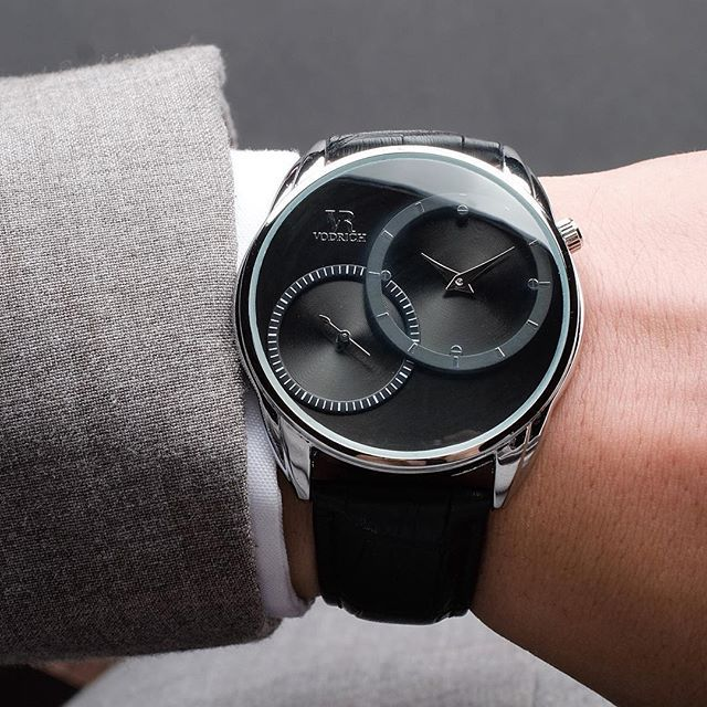 Dual Time Silver from the Aviator collection is an instant classic that will have heads turning your way. Free Shipping Worldwide Click the Buy Button to make it yours!