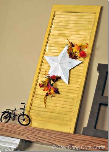 Fall Shutter--kicking myself for getting rid of the shutters I had!! Will have to look for more.                                                                                                                                                                                 More