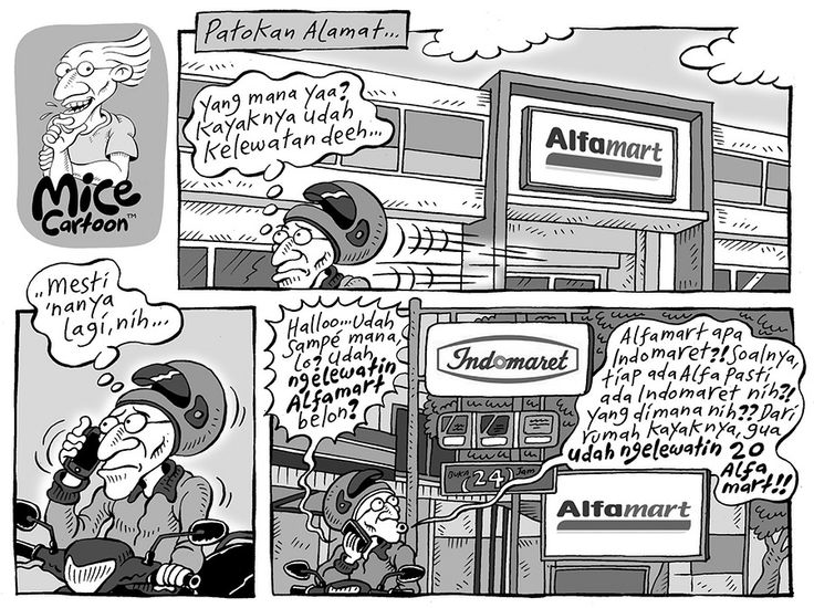 Mice Cartoon, Kompas 19 Januari 2014: Patokan Alamat