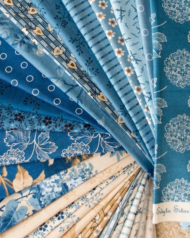 Blue skies ahead! Looking forward to Blue Sky collection coming out from @andoverfabrics  #laundrybasketquilts #edytasitar #andoverfabrics #bluesky