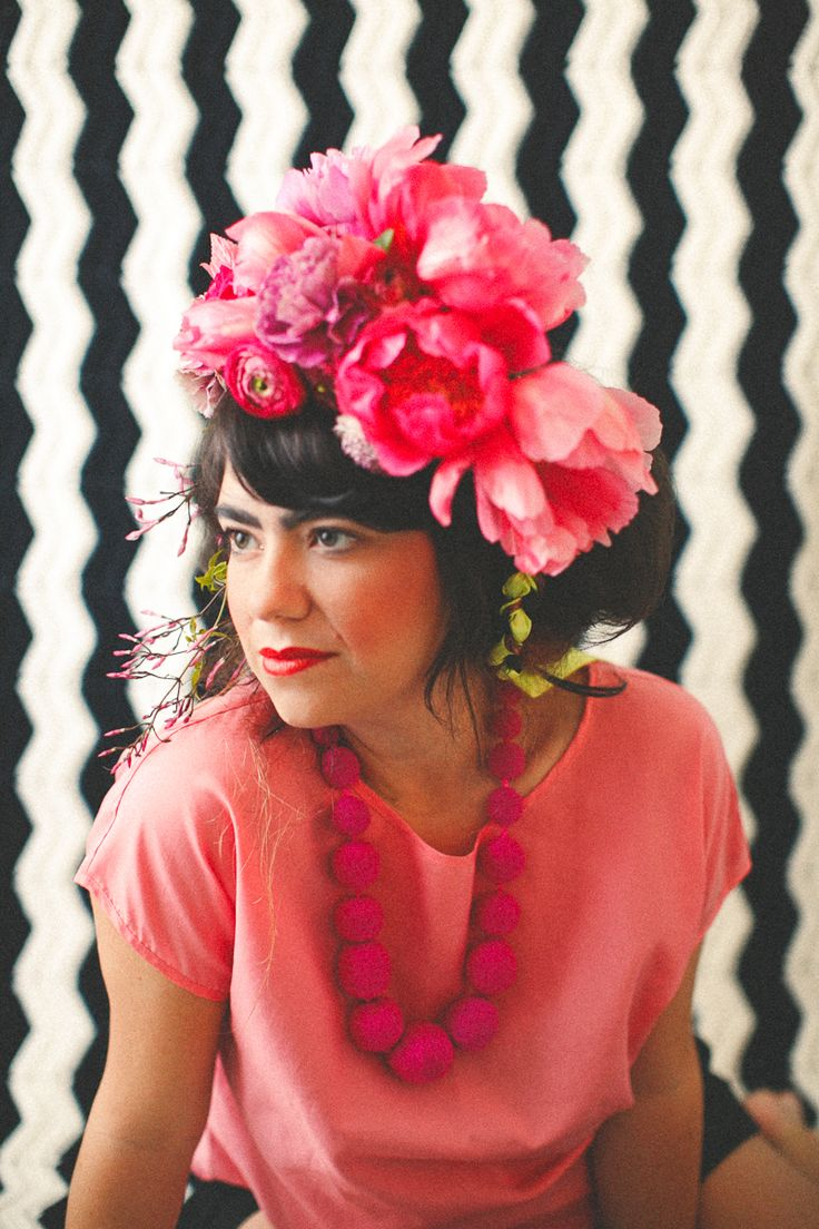 The gorgeous Alicia Rico of Bows + Arrows fame. Awesome blog, beautiful flowers, paper, photos, design, etc. Follow, follow!