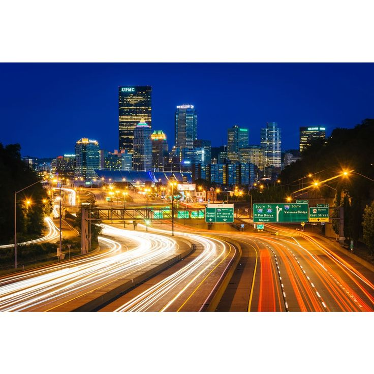 Noir Gallery Pittsburgh Skyline and Highway at