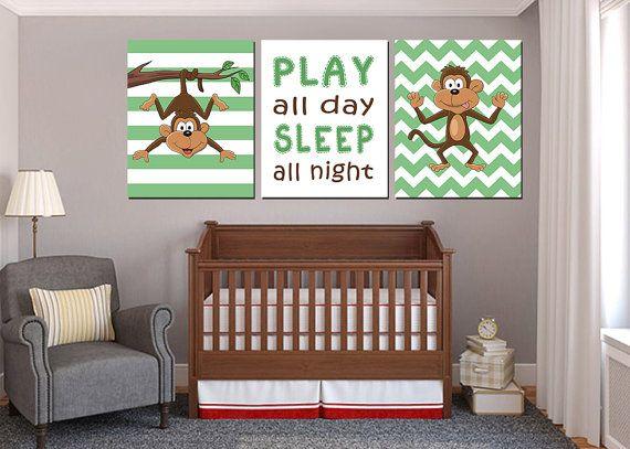 Monkey Nursery decor Monkey Nursery Art Baby by MyPrintableArts