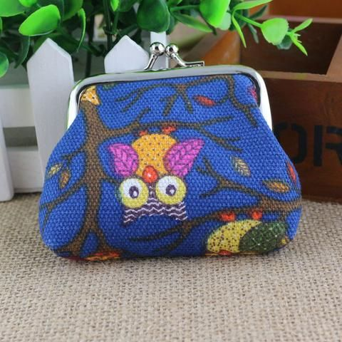 Women's Owl Purse - Blue