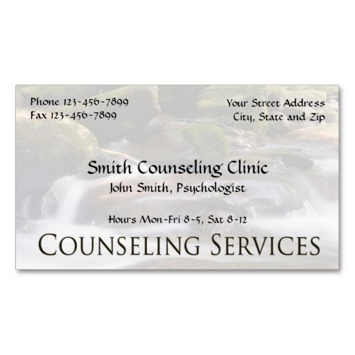 191 best mental health counselor business cards images on pinterest counselor psychologist mental health business card colourmoves