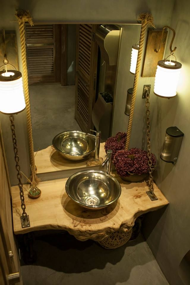 Kütük Ahşap Banyo Lavaboları 14