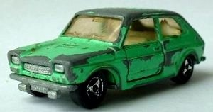 Majorette Fiat 127 in green