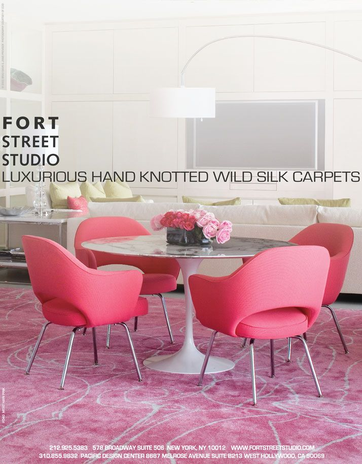 Fort Street Studiou0027s Mata Hari Custom Pink Rug Advertisement. As Seen In  Elle Decor,
