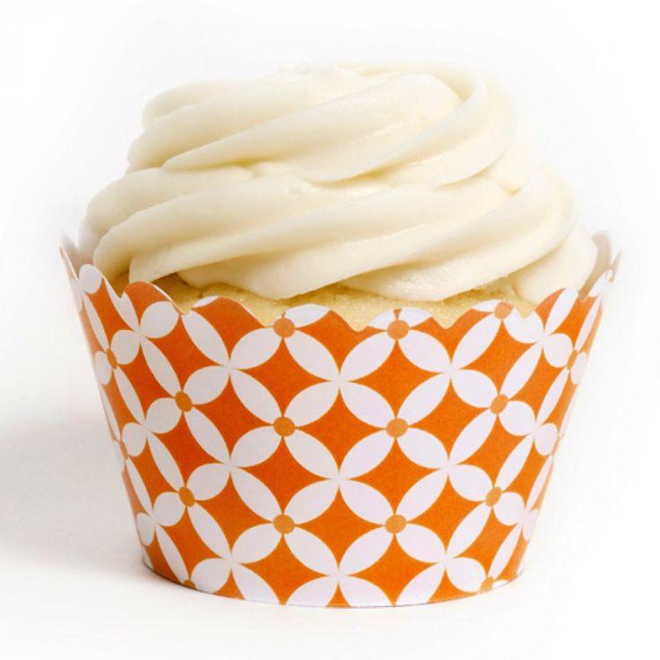 Orange Diamonds Cupcake Wrappers [DMC6756] : Wholesale Wedding Supplies, Discount Wedding Favors, Party Favors, and Bulk Event Supplies