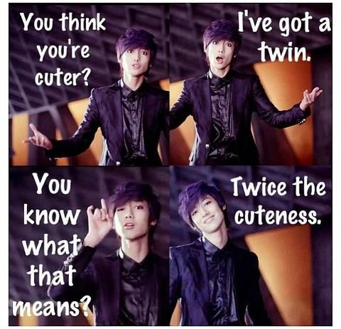 haha cute! its true xD I have twin sisters. It may be 2x the cute but 2x the trouble as well ;)
