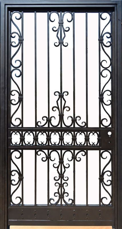 30 best images about wrought iron door on pinterest for Door design of iron