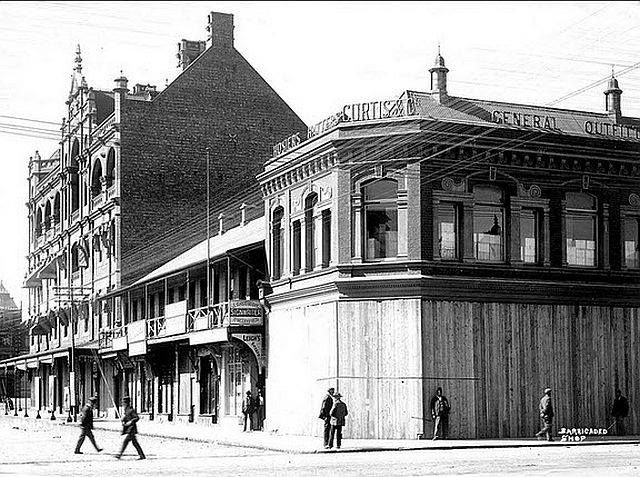 Martial law was in force in Johannesburg for eight months from 11 October 1899 until May 1900. During this time many shops were boarded up and prevented from doing business, food was scarce and life almost came to a standstill. Many foreigners, even doctors and nurses, were deported. (With acknowledgement to Friedel Hansen)