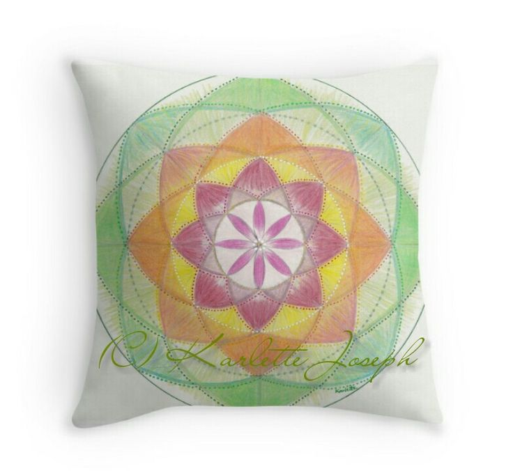 Heart Chakra Mandala Throw Pillow  http://www.redbubble.com/people/karlettejoseph/works/22758994-heart-chakra-mandala?p=throw-pillow&rel=carousel  #mandala #pillow #cushion #throw #homedecor #art #heartchakra