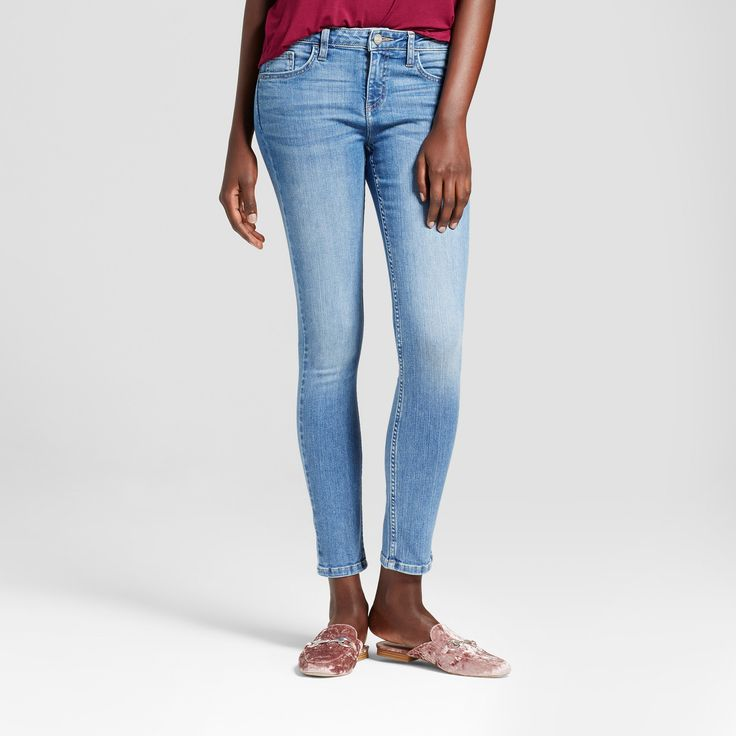 Women's Modern Fit Skinny Jeans - Crafted by Lee Light Denim 14 Short