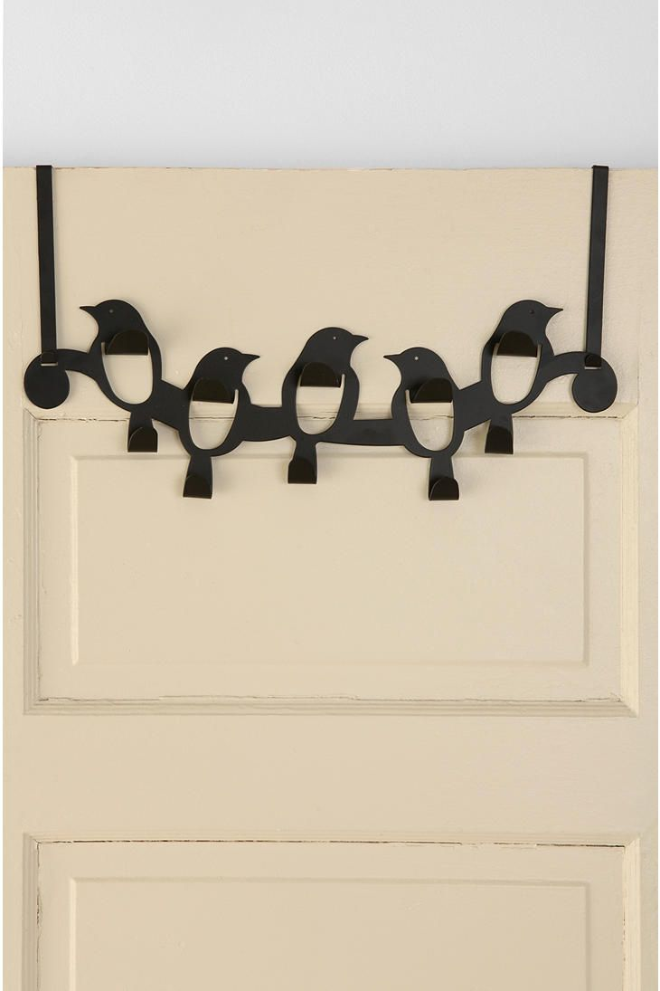 Over the Door Flock of Birds Hook.. could be cute for his animal room if we painted it