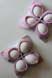Nicht nur zu Ostern könnt ihr die coolen Eierkörbchen nähen und somit entweder eure Eier beim Frühstück aufbewahren, ausreichend präsentieren oder sogar warm halten. Ich freue mich jeden Sonntag au…
