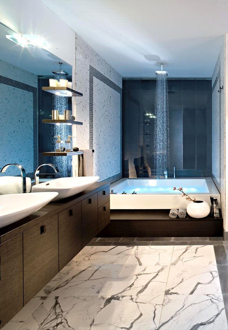 Каррарский мрамор в ванной комнате от компании Margraf