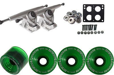 Other Longboard Parts 165947: Randal Longboard Trucks And Wheels Package 180Mm + Bigfoot 75Mm Invaders Green -> BUY IT NOW ONLY: $60.74 on eBay!