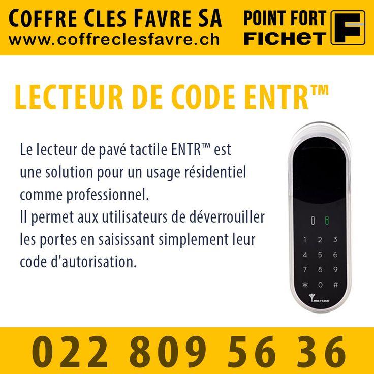 Lecteur de code ENTR™ Le lecteur de pavé tactile ENTR™ est une solution pour un usage résidentiel comme professionnel. Il permet aux utilisateurs de déverrouiller les portes en saisissant simplement leur code d'autorisation.  #PointFortFichet #Geneve #securite #domotique