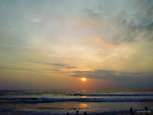 Sunset in the beach, kuta bali