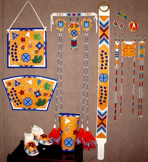 how to make ladies pow wow plume set and drops