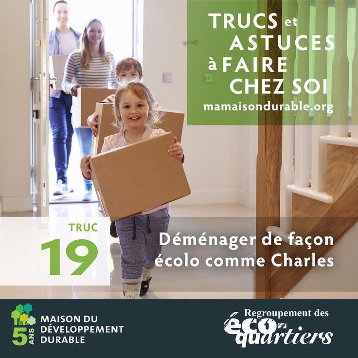 « Faire un déménagement écologique, c'est logique lorsque l'on essaie de réduire notre impact environnemental. Ça veut également dire faire des économies, comme récupérer des boîtes de carton existantes au lieu d'en acheter de nouvelles! »