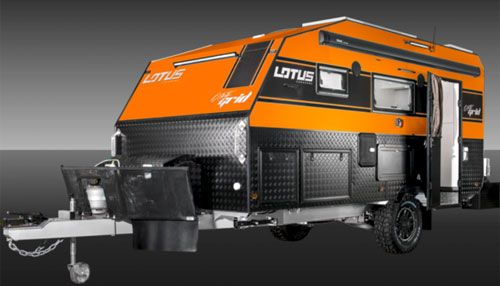 Lotus (Australia) Off-Grid travel trailers (available in 5 ...