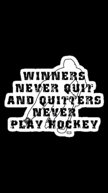 Hockey players never quit