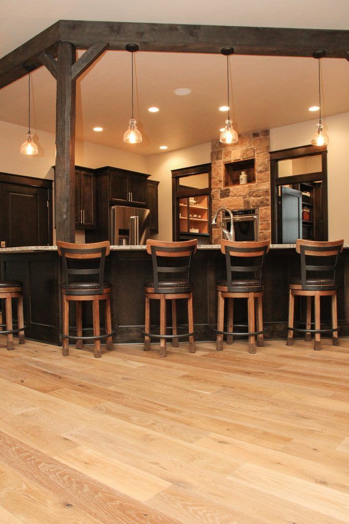 Light Hardwood Floor Rustic Kitchen Design Rustic Kitchen
