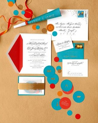 "See the ""Festive Flare"" in our Invitations from Real Weddings gallery"