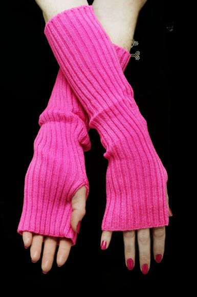 Neulotut Kädenlämmittimet -Pinkki   Cybershop