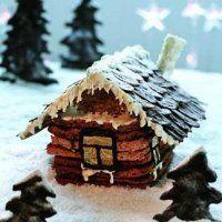 """Новогодние десерты. Торт """"Дом в шоколаде"""""""