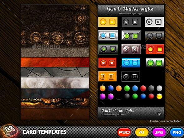 10 Collectable Card Templates Card Templates Card Design Colorful Backgrounds