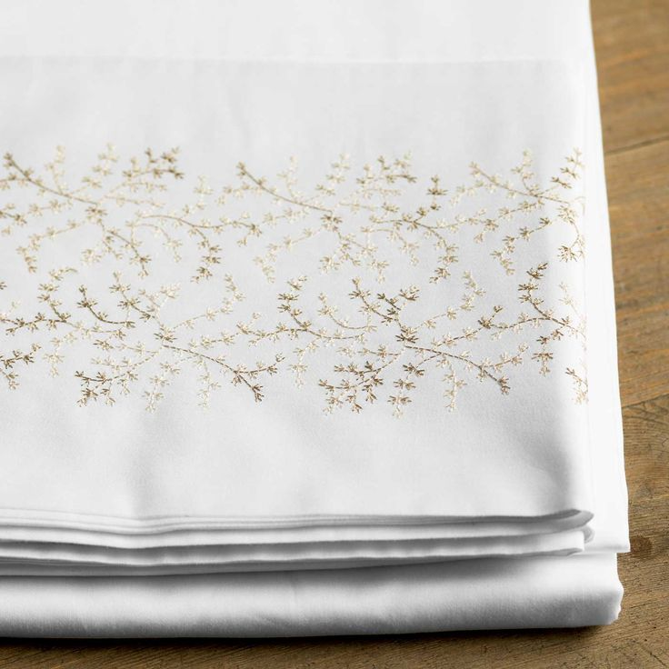 Kelly pillowcases feature warm and beautiful detailing.