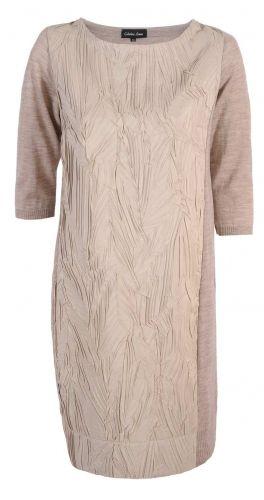 Caterina, Beżowa elegancka sukienka, stylowa sukienka, beż, modna sukienka, https://sklep.caterina.pl