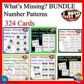 Grade / Year Level :: Primary Education :: Foundation - Year 2 :: Maths Groups Activity Missing Numbers Patterns BUNDLE Counting by many different Numbers