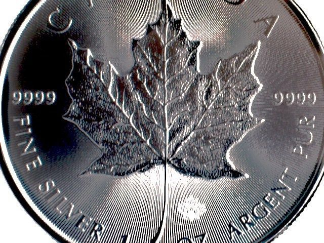 10 X 1 Oz Silbermünze Canada Maple Leaf 2015