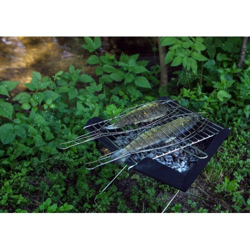 """""""Brzoza"""" Grill - Portable folding grill made of metal."""