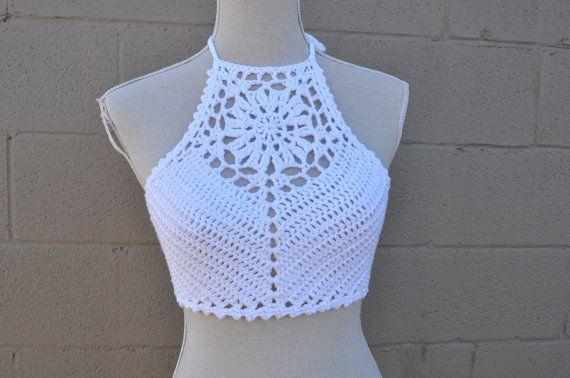 Crochet Pattern Zinnia Crochet Crop Top by OfMars on Etsy                                                                                                                                                                                 Mais