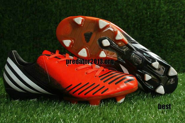 Adidas Predator 2012 LZ Infrared Black Running White Beckham Soccer Shoes