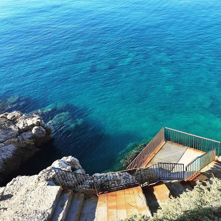 Côte D'Azur living up to its name  #cotedazur #côtedazur #nice #frenchriviera #riviera #sea #mer #france #water #azure #travel #traveladdict #wanderlust #igtravel #tlpicks #beautifuldestinations #tourist #beach #backpacker #ocean by katiem0rrison at http://ift.tt/1iM7IuT