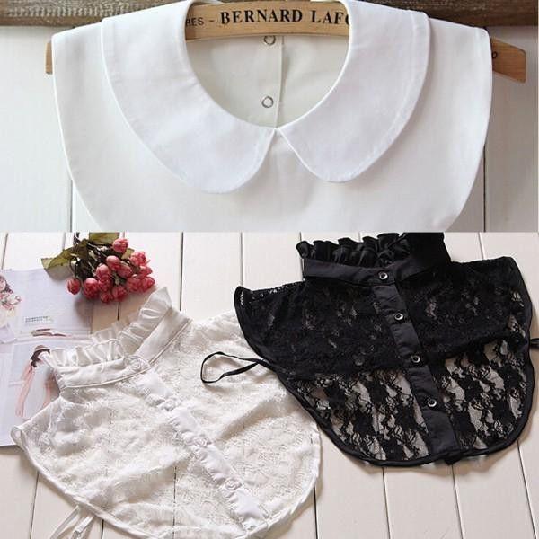 Retail Styles Women Lapel Fake False Collar Detachable Collar