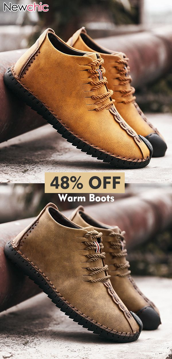 7f5caf7e4cd4 Men Leather Soft Warm Casual Boots.  menswear  casual  mensfashion ...