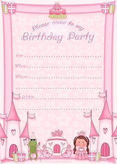 Free Printable Princess Birthday Party Invitations   Printable Party Kits: