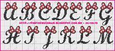 Ponto Cruz e Mais: Monogramas Lacinhos da Minie - Ponto Cruz e Mais