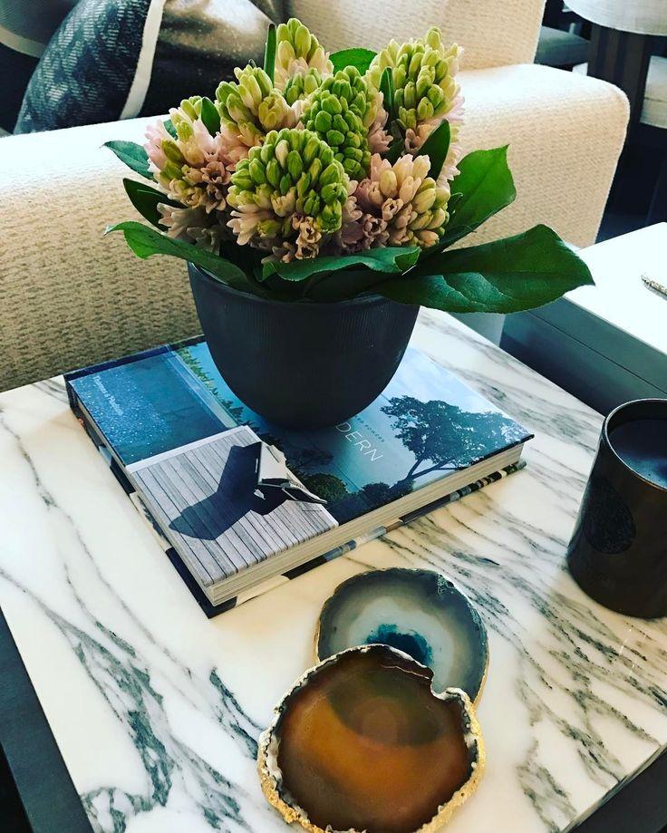 Beautiful Hyacinthus vases to dress our showroom side tables! 🌷🌿🌱 #flower #decor #accessories #interior #design #rachelwinham #showroom #5 #pond #street #hampstead #london