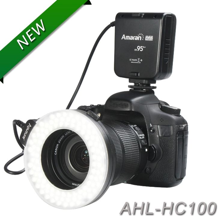 (39.20$)  Know more - http://aij10.worlditems.win/all/product.php?id=1526666220 - Aputure HC100 CRI 95+ Amaran Halo LED Macro Ring Flash light  For Canon EOS 7D 6D 50D 5D Mark III 5D Mark II 700D 70D