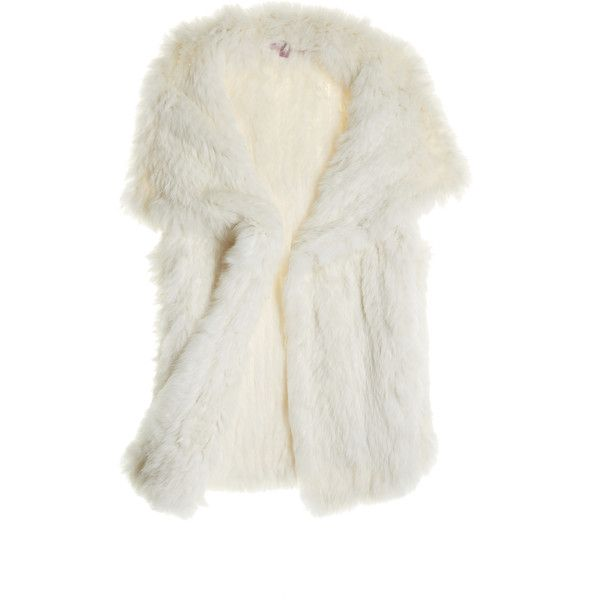 CALYPSO St. Barth Rabbit Fur Yali ($650) ❤ liked on Polyvore featuring outerwear, vests, vest, jackets, tops, fur, summer vest, rabbit vest, calypso st. barth e vest waistcoat